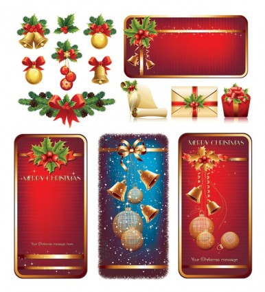 高品質クリスマス要素ベクトル