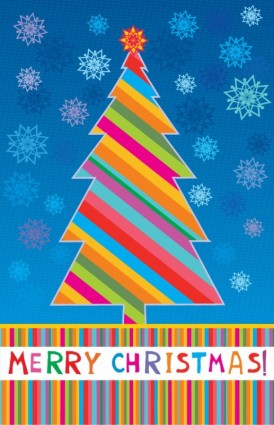 Веселые рождественских поздравительных открыток векторные иллюстрации