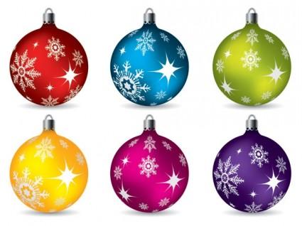 coloridas bolas de Navidad colgando del vector