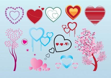 gráficos del vector de corazón San Valentín gratis