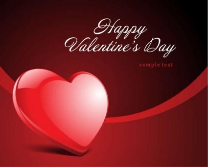 carte de vecteur de valentine heureux rsquo s jour coeur