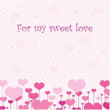 vector tarjeta de amor