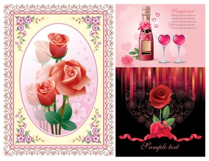 vector de rosas de amor
