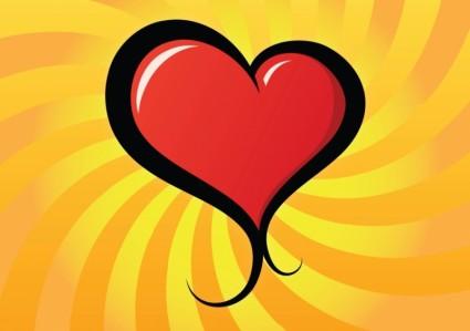vecteur de jolie coeur