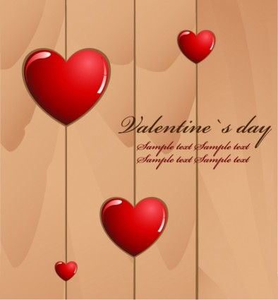 Valentine s day amour carte vectorielle
