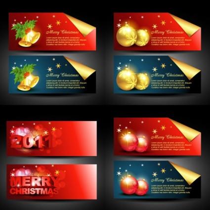 indah Natal banner vektor