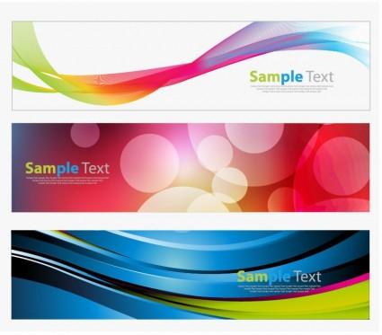 gráfico de vector banners coloridos