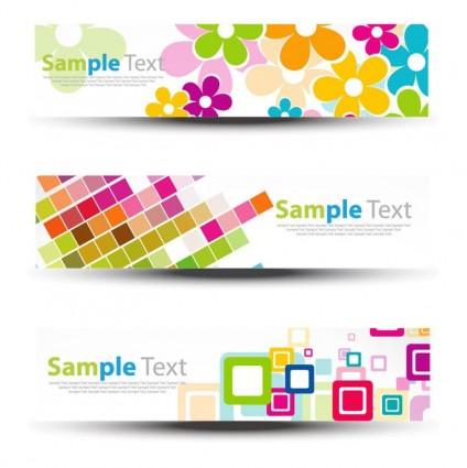 banners de cabecera vector graphic