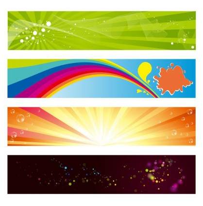 vektor horizontal banner set