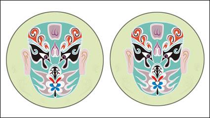 中国の伝統的なベクトルをマスクします。