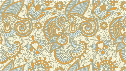 Hermoso patrón pintados a mano-2 material de vectores