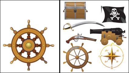 Pirate quipements et fournitures vecteur mat riel