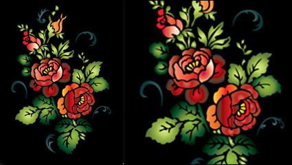 Vecteur de peinture colorée folk art - 06