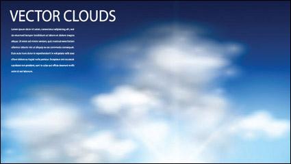 Голубое небо и облака вектор