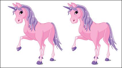 Симпатичные карикатуры пони 01 - вектор