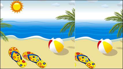 Океан вектор материальной -4