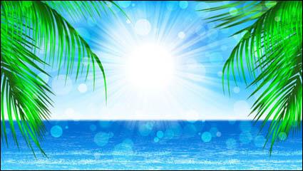 Красивые прибрежные пейзажи - вектор