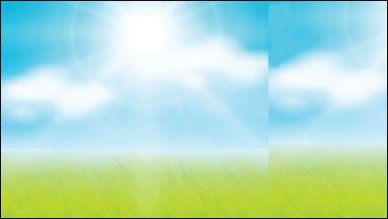Трава небо векторный материал