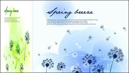 Jahreszeiten Landschaft-3 Illustrator-Vektor-material