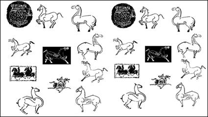 Material de vectores animales frotamiento