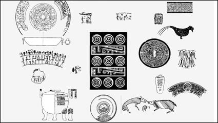 Material antiguo patrón 01 vector