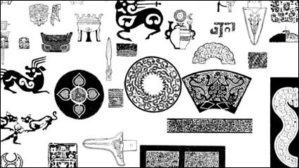 02 古代パターン ベクトル材料