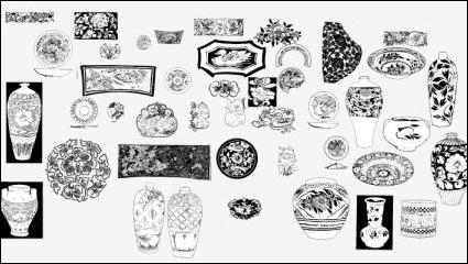 古代のパターン 03 ベクトル材料