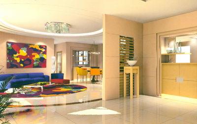 Vestibule and Living Room