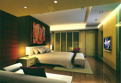 Luxury Bedroom-Contemporary art