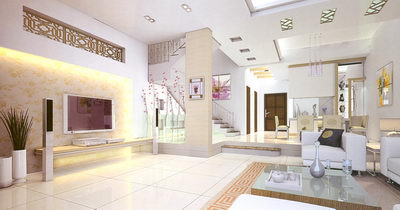 Staircase and Living Room model