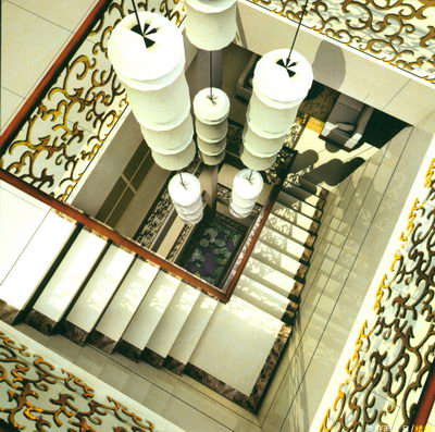 Staircase with Contemporary Art Decorate