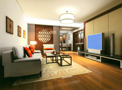 living-room interior scene design