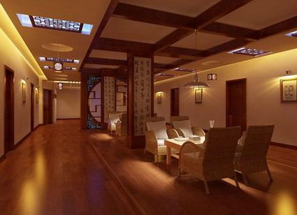 Romantic elegance restaurant model