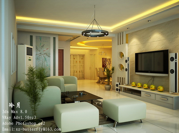 Elegant simplicity interior decoration