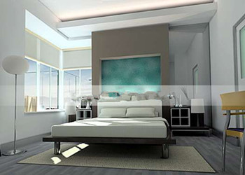 Fashion bright and simple bedroom