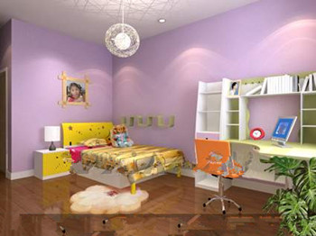 Purple multi-functional children bedroom
