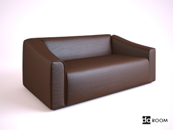 A brown leather the multiplayer sofa 3D model