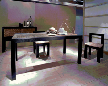 Logs minimalist dining table chair 3D model
