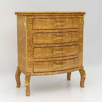 3D model of the European-style chest of drawers