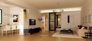 Modern style semi-open living room