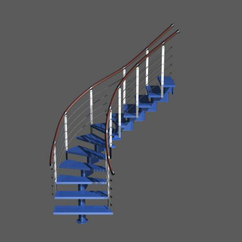 3d blue fashion stairs