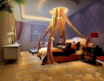 Modern dark and comfortable bedroom