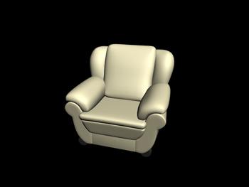 European-style leather single sofa