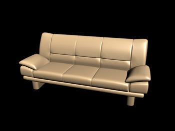 European-style three seats sofa