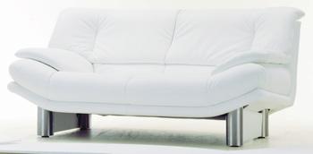 Modern White double seats fabric sofa