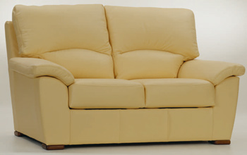 European light double seats fabric sofa
