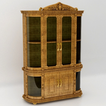 European-style clear glass cabinet