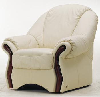 Modern personalized white single leather sofa