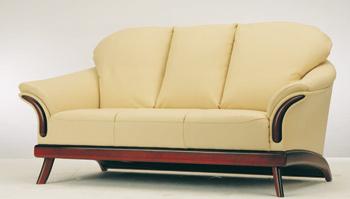 European-style cushion three seats sofa