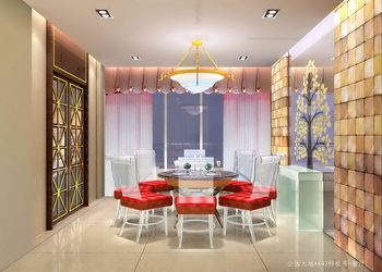 Modern bright and cozy dining room